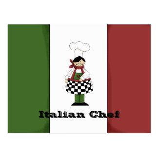 Italian Chef #8 Recipe Card Post Card