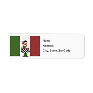 Italian Chef #8 Return Address Label