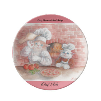 Italian Chef Axle Hanging Plate Porcelain Plate