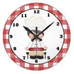 Italian Chef Cartoon kitchen wall clock