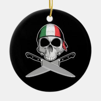 Italian Chef Ceramic Ornament