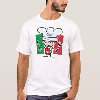 Italian Chef cooking t shirt - customizable text