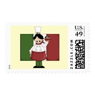 Italian Chef - Customizable Postage Stamp