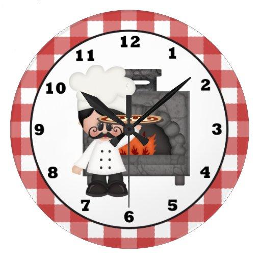 Italian Chef fun kitchen wall clock