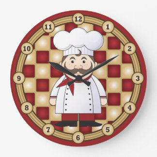 Italian Chef Large Clock