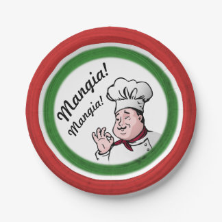 Italian Chef: Mangia Mangia Paper Plate