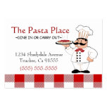 Italian Chef-Pasta Large Business Cards (Pack Of 100)