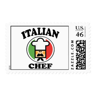 Italian Chef Postage Stamp