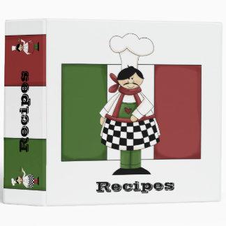 Italian Chef Recipe Binder