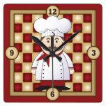 Italian Chef Wall Clocks