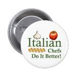 ITALIAN CHEFS 2 INCH ROUND BUTTON