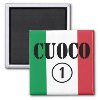 Italian Chefs : Cuoco Numero Uno 2 Inch Square Magnet