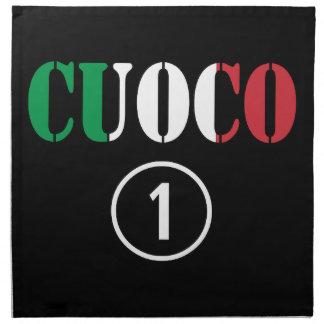 Italian Chefs : Cuoco Numero Uno Printed Napkins