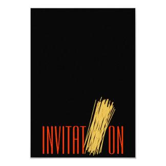 Italian Chic Restaurant Food Invitation