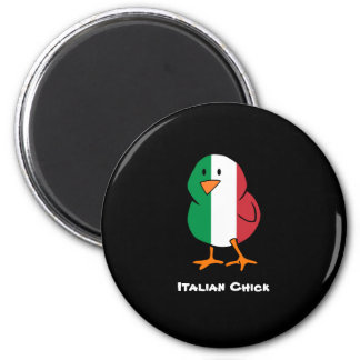 Italian Chick 2 Inch Round Magnet