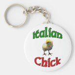 Italian Chick with Horn Keychains