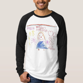 italian children design with smile and hart T-Shirt