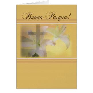 Italian Christian Easter, Yellow Buona Pasqua Card