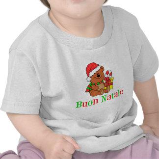 Italian Christmas Bear For Kids Tshirt