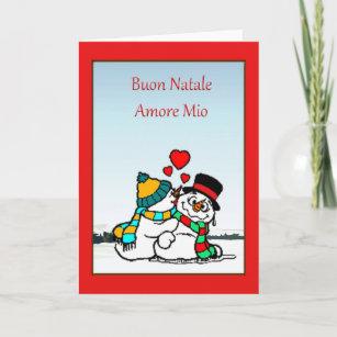 Snowman and snowwoman cards zazzle italian christmas card m4hsunfo