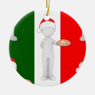 italian christmas ceramic ornament