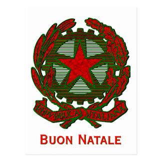Italian Christmas Greeting Postcard