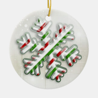 Italian Christmas Snowflake Ornament