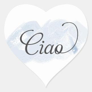 Italian - Ciao Heart Sticker