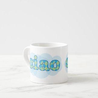 italian ciao with argyle espresso mug