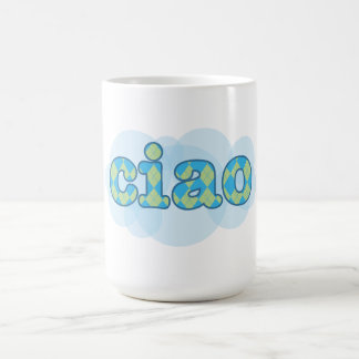 italian ciao with argyle mug