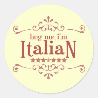 Italian Classic Round Sticker