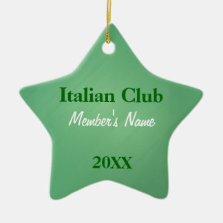Italian Club, Foreign Language Club OrnamentsName  Ceramic Ornament