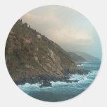 Italian Coast Scene Classic Round Sticker