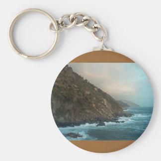 Italian Coast Scene Keychain
