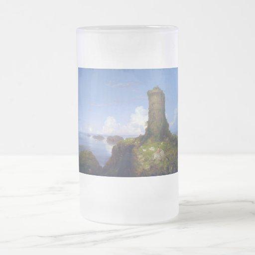 Italian Coast Scene with Ruined Tower -Thomas Cole Coffee Mugs