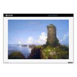 Italian Coast Scene with Ruined Tower -Thomas Cole Laptop Skin