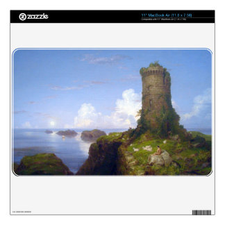Italian Coast Scene with Ruined Tower -Thomas Cole Skins For MacBook