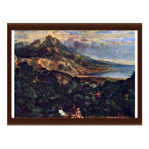Italian Coastal Scenery By Millet  (Best Quality) Postcard