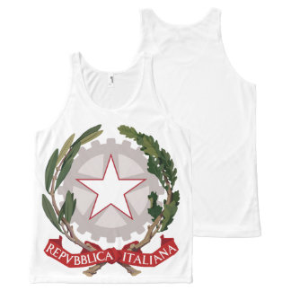 Italian Coat of Arms All-Over-Print Tank Top