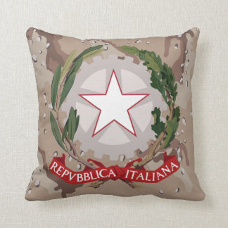 Italian Coat of Arms Desert Camo MoJo Pillow