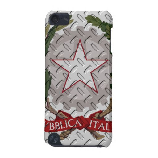 Italian Coat of Arms Diamond Plate iPod Touch 5G Cover