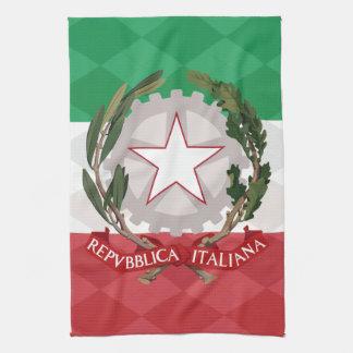 Italian Coat of Arms Flag Argyle  MoJo Kitchen Tow Kitchen Towels