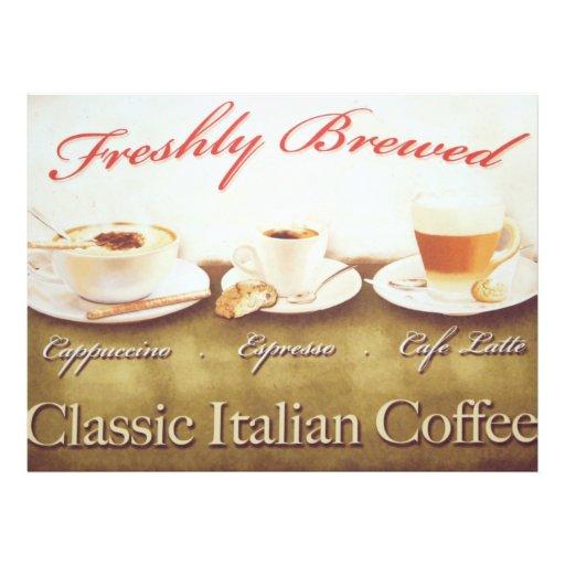 Italian coffee photo print