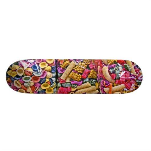 Italian Coloured Pasta Shapes (3) Skateboard Decks