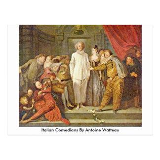Italian Comedians By Antoine Watteau Postcard