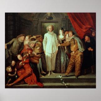 Italian Comedians, c.1720 Poster