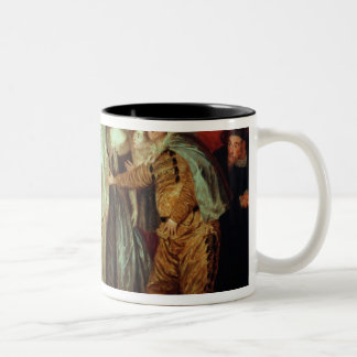 Italian Comedians, c.1720 Two-Tone Coffee Mug