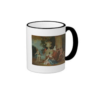 Italian Comedians in a Park, c.1725 Ringer Coffee Mug