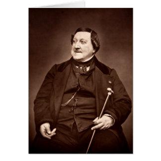 Italian Composer Gioachino Antonio Rossini Card