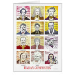 Italian Composers greetings card